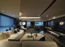 现代豪华客厅装修效果图