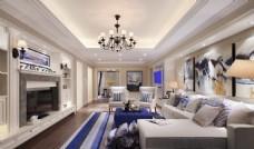 现代时尚客厅装修效果图