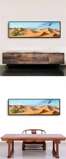 沙漠风景挂画设计