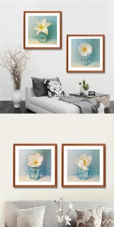 手绘花卉装饰画设计