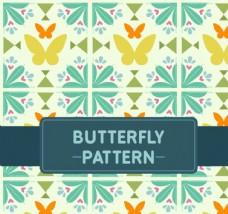 抽象蝴蝶无缝背景素材