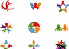 人形组合变形标志