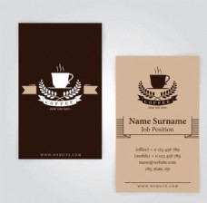 咖啡杯图案名片