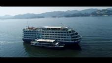 海上游轮视频实拍素材