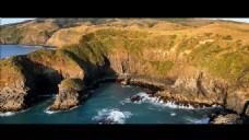 山峰河流视频素材