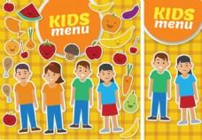 卡通可爱孩子菜谱封面设计