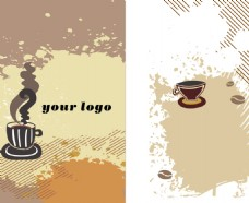 矢量咖啡名片设计