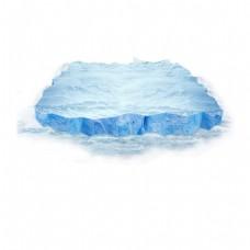 蓝色大海冰块元素