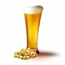 一杯啤酒png元素