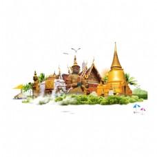泰国风景沙滩元素