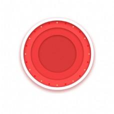 红色圆圈png元素