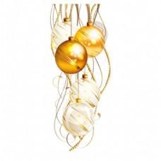 金色大气吊球元素