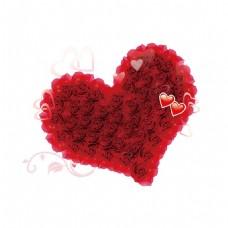 浪漫玫瑰心形元素