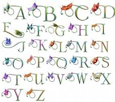 蝴蝶英文字母(大写)