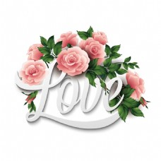 love艺术字体png元素