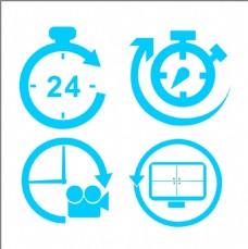定时录像 24小时录像 摄像头录像标志