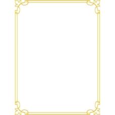手绘黄色线条元素