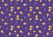 紫色小碎花清新背景素材