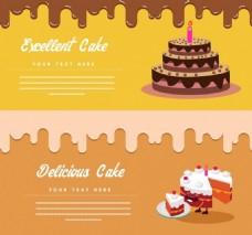 蛋糕巧克力背景素材