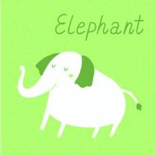 大象的矢量图示