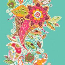 彩色艺术火腿花纹背景