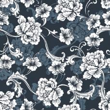 复古怀旧奢华手绘花朵背景素材