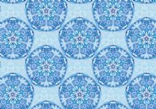 蓝色创意抽象花纹背景