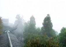 玉皇山顶的雾气