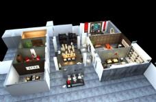 茶室俯视结构图