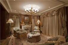美式别墅家居装修效果图