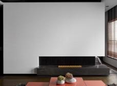 客厅白色背景墙效果图