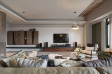 现代家居客厅背景墙效果图