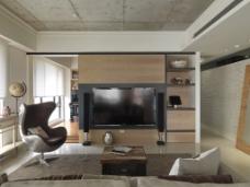 现代客厅墙面效果图