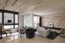 现代客厅墙效果图