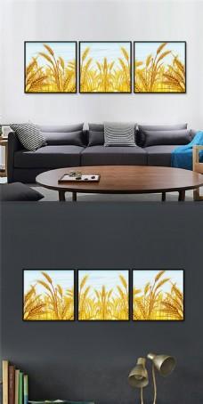 麦子装饰画设计