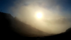太阳阳光山峰视频