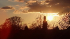 夕阳风景云彩视频