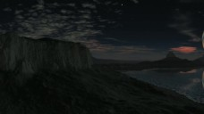 夜晚黄昏景色视频素材
