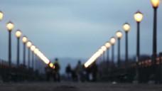 城市马路路灯视频拍摄