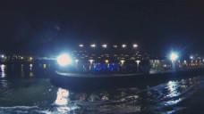 河流港口夜景视频