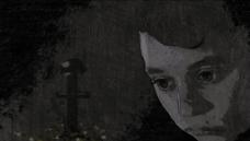 复古人物流泪画面视频