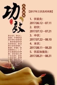 中医艾灸养生展板