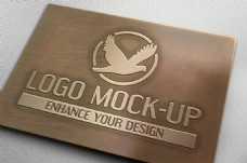 金属感立体企业LOGO样机