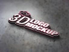 3D标志LOGO样机