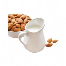 白色奶瓶干果元素