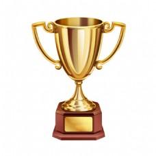 金色奖杯荣誉元素