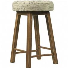 实木圆形高凳元素