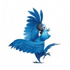 蓝色鹦鹉跳舞元素