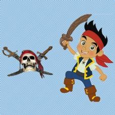 可爱小海盗免抠png透明图层素材