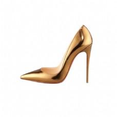 实物金色高跟鞋元素